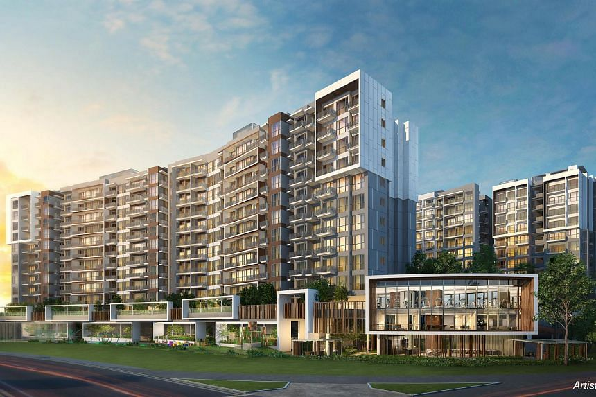 An artist's impression of Forest Woods, a condominium in Serangoon Central.