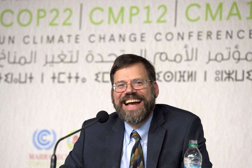 Jonathan Pershing, Washington's top climate envoy, at the UN World Climate Change Conference 2016 in Marrakesh.