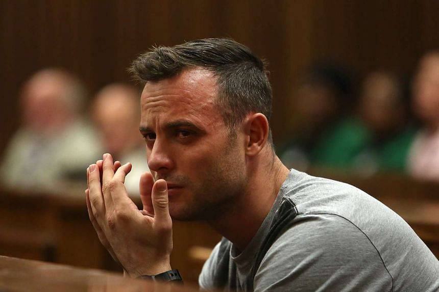 This file photo taken on June 15, 2016 shows Paralympic athlete Oscar Pistorius crying during his resentencing hearing for the 2013 murder of his girlfriend Reeva Steenkamp at the Pretoria High Court.