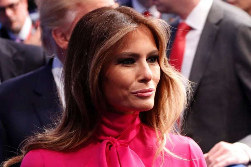 United States First Lady Melania Trump.