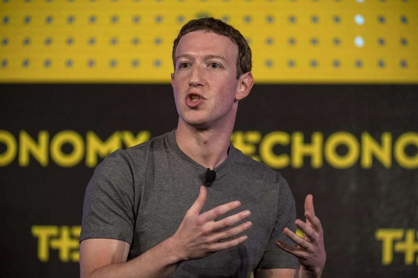 Mr Mark Zuckerberg, chief executive officer and founder of Facebook, speaking at the Techonomy 2016 conference in Half Moon Bay, California.