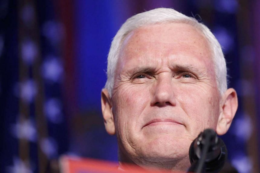 US Republican vice presidential nominee Mike Pence speaks at US Republican presidential nominee Donald Trump's election night rally in Manhattan, New York, US on Nov 8, 2016.