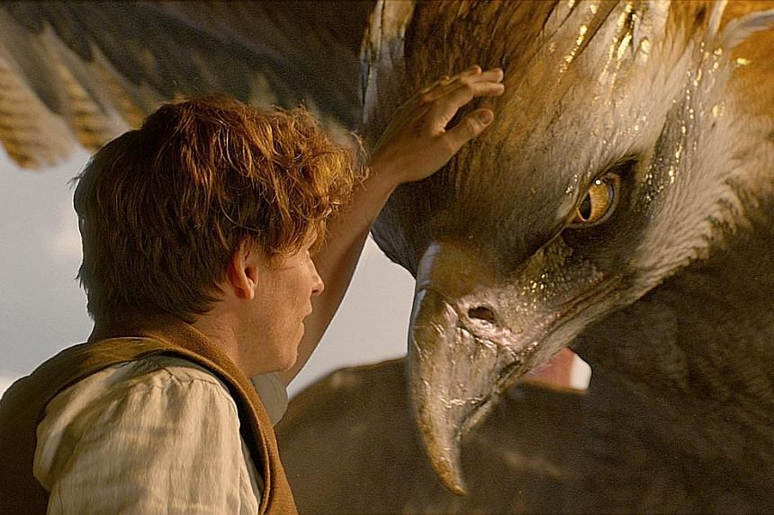 Eddie Redmayne plays Newt Scamander, an expert on magical creatures who has to retrieve some of these beasts when they escape and wreak havoc in New York.
