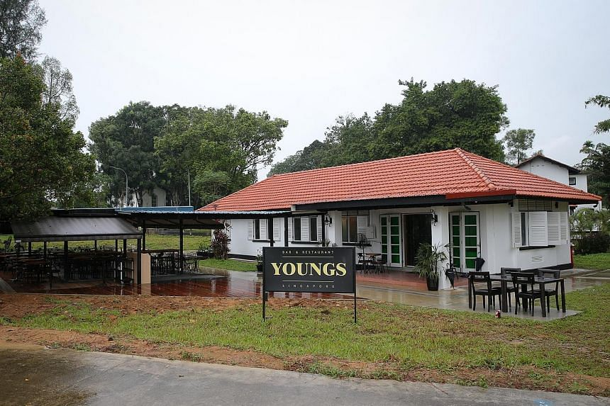Youngs Bar & Restaurant, which serves modern European cuisine, opened last month at The Oval in Seletar Aerospace Park.