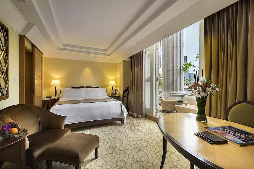 The luxurious Quay Room at Fullerton Hotel.
