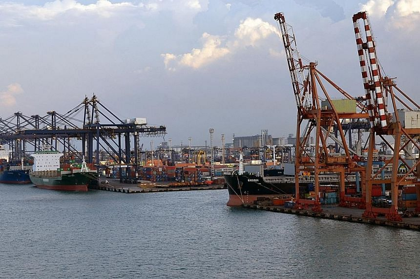 The container terminal at Tanjong Priok Port in Jakarta, Indonesia. The country has booked US$6.92 billion (S$9.8 billion) of surplus in the first 10 months of this year.