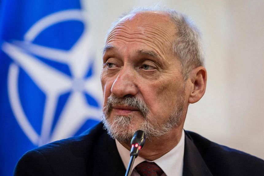Polish Defense Minister Antoni Macierewicz during a press conference in Warsaw on Sept 15, 2016.