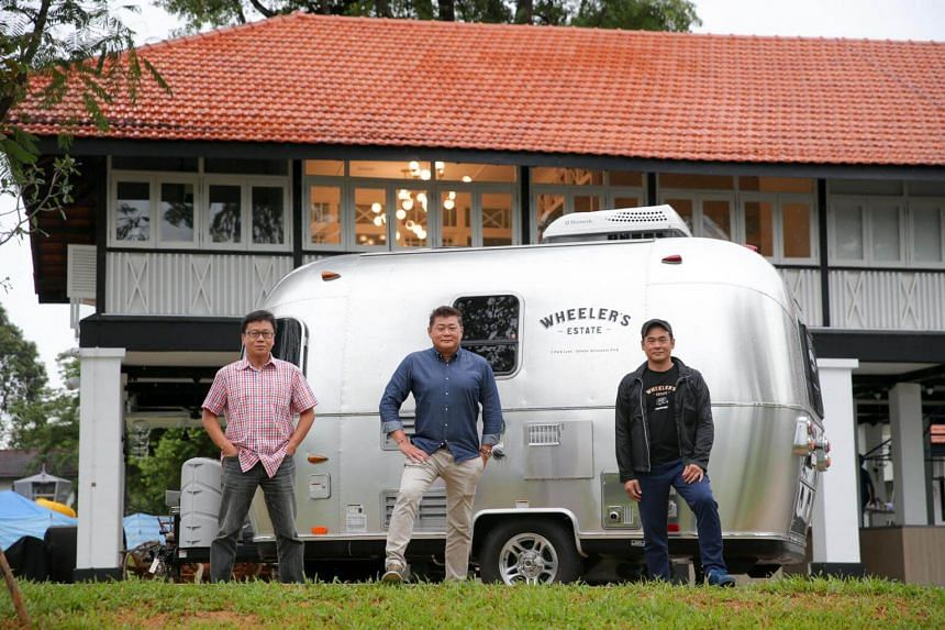 Wheeler's Estate, helmed by brothers (from far left) Ong Tiong Ann, Daniel Ong and Ong Tiong Huat, is one of the eateries that will open next month at The Oval.