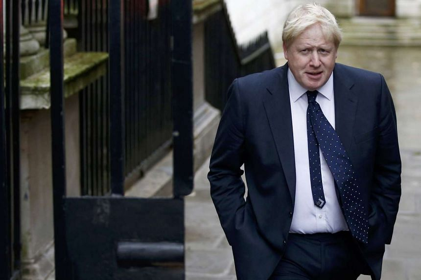 Britain's Foreign Secretary Boris Johnson arrives in Downing Street for a cabinet meeting, in London on Nov 15, 2016.