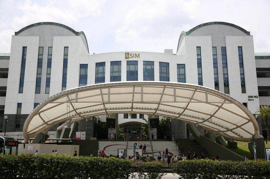 The facade of SIM University (UniSIM).