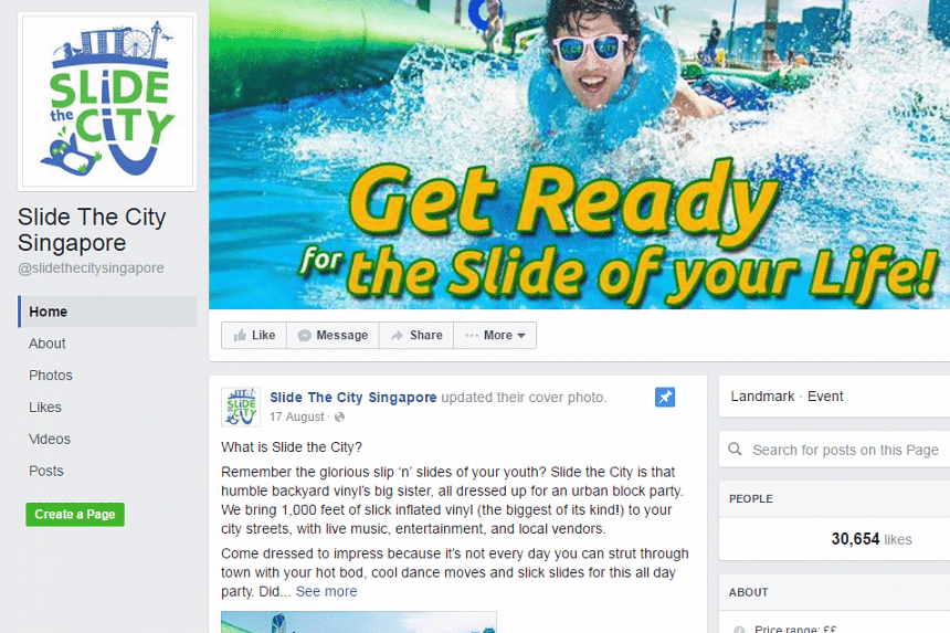 """Slide The City Singapore has been postponed indefinitely due to """"unforeseen circumstances""""."""