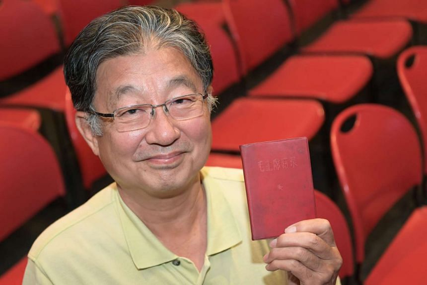 Mr Tan Pui Hee with his Little Red Book, which now has Professor Frank Dikotter's inscription.