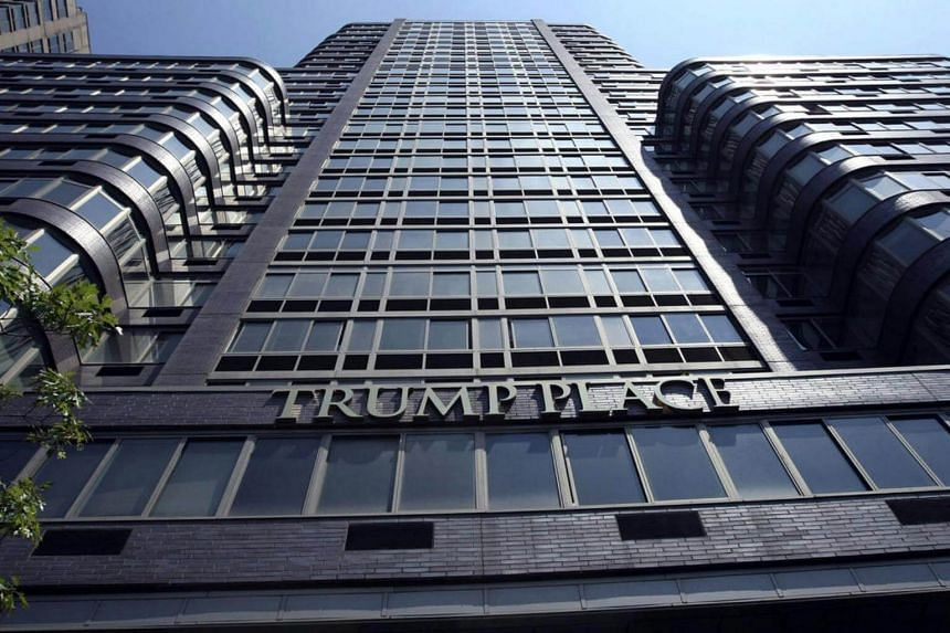The Trump Place apartment complex on the Upper West Side of Manhattan in New York.