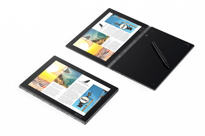 Write with pen and paper on the Yoga Book and see your notes get digitised in real time.