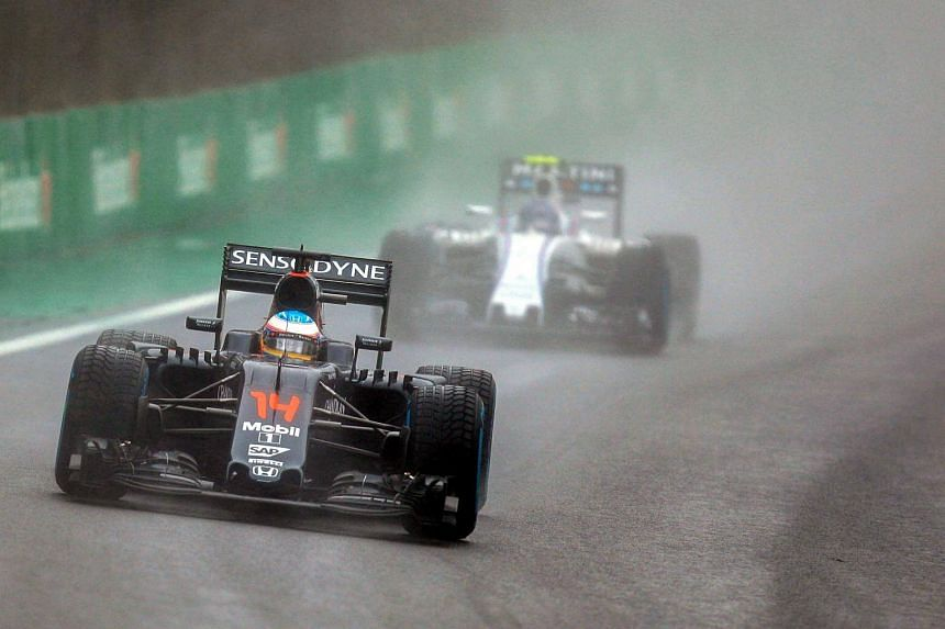 Spanish Formula One driver Fernando Alonso, of McLaren, in action during the Formula One Grand Prix of Brazil.