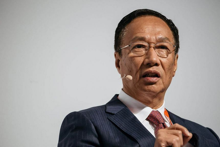 Billionaire Terry Gou, chairman of Foxconn Technology Group, speaks at the Asia-Pacific Conference of German Business in Hong Kong.