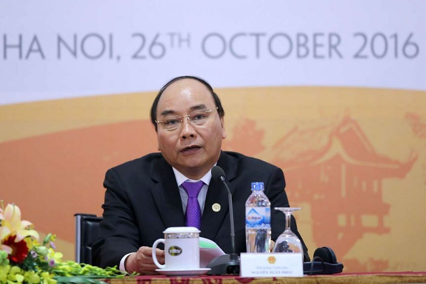 Vietnam's Prime Minister Nguyen Xuan Phuc speaks during a press conference in Hanoi on Oct 26, 2016.