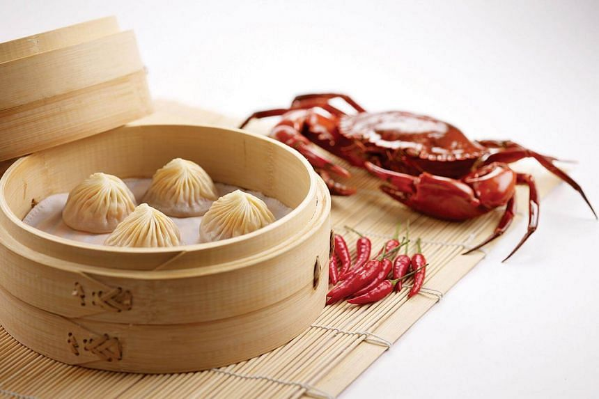 Steamed Chilli Crab Dumplings from Din Tai Fung.
