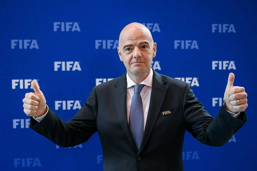 Fifa president Gianni Infantino gestures after a meeting of the Fifa Council on Oct 14, 2016.
