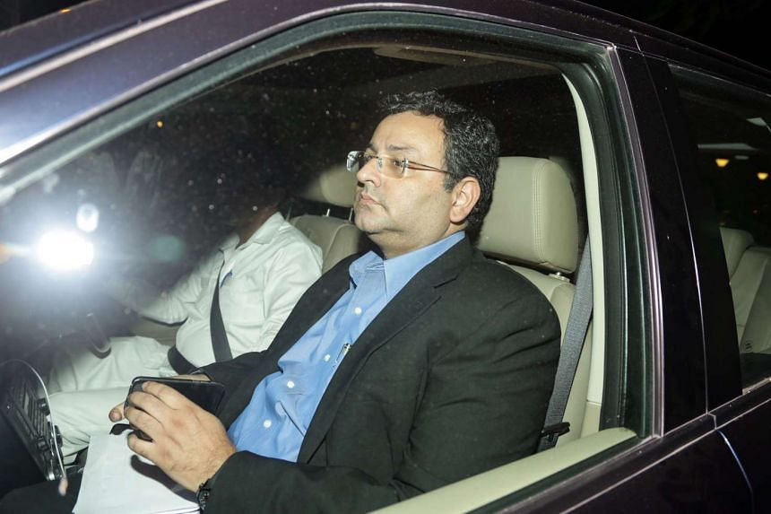 Cyrus Mistry, former chairman of Tata Sons, leaves after attending a meeting at the company's head office in Mumbai, India on Nov 14, 2016.