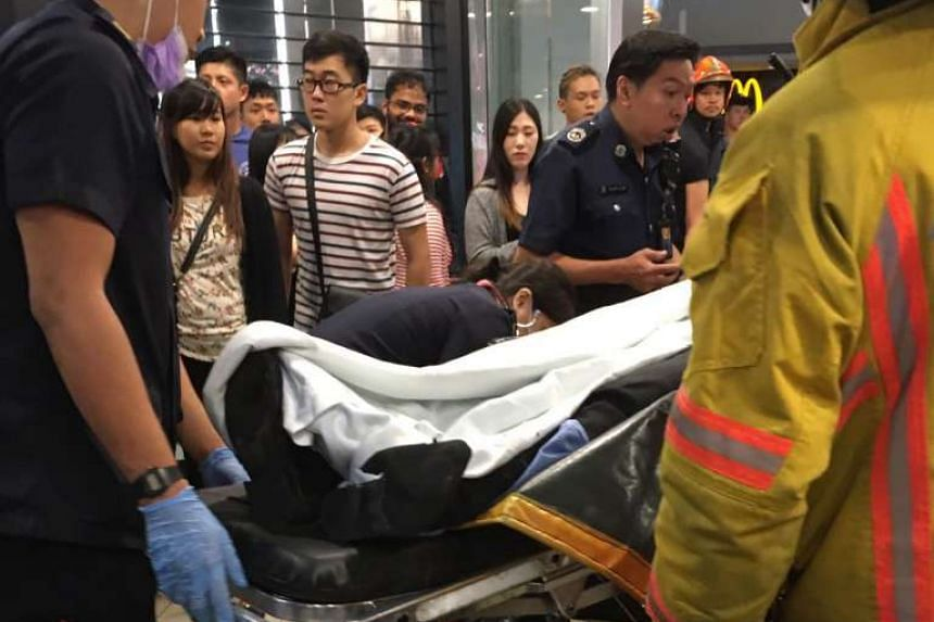 The man, in his 20s, was taken to Tan Tock Seng Hospital.
