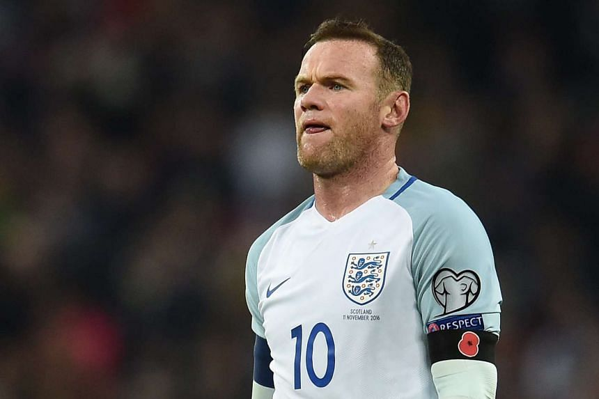 Rooney in action during the World Cup 2018 Qualification group F match between England and Scotland on Nov 11, 2016.