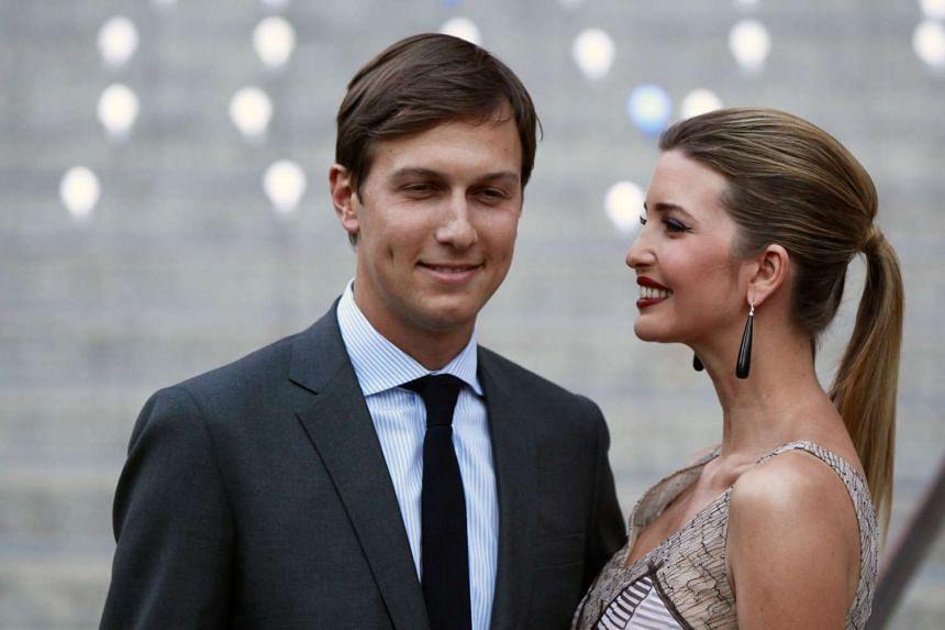 Ivanka Trump with husband Jared Kushner at a Vanity Fair party in 2012.