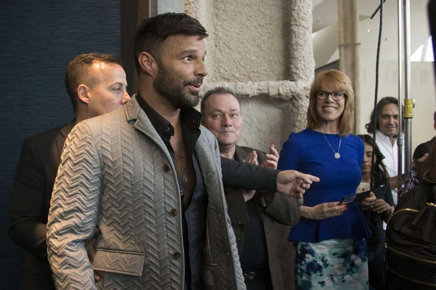 Ricky Martin prepares to announce his Las Vegas residency during a press conference on Nov 16, 2016.