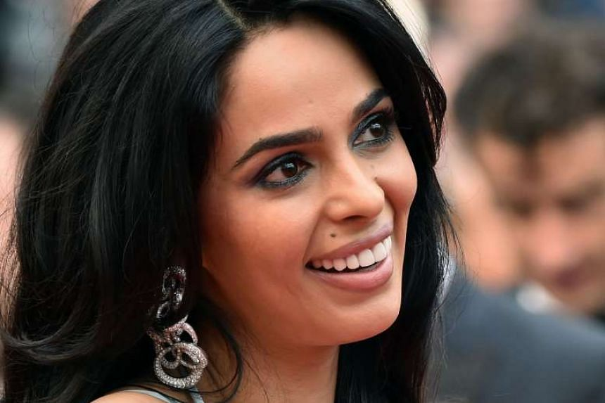 Malika Sherawat arrives for the screening of the film The BFG at the Cannes Film Festival in France, in May 2016.