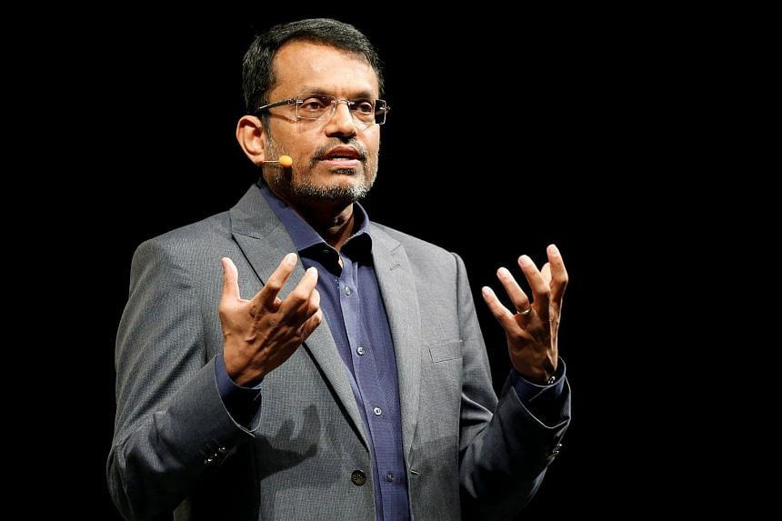 Ravi Menon, managing director of the Monetary Authority of Singapore (MAS), speaks at the Singapore Fintech Festival.
