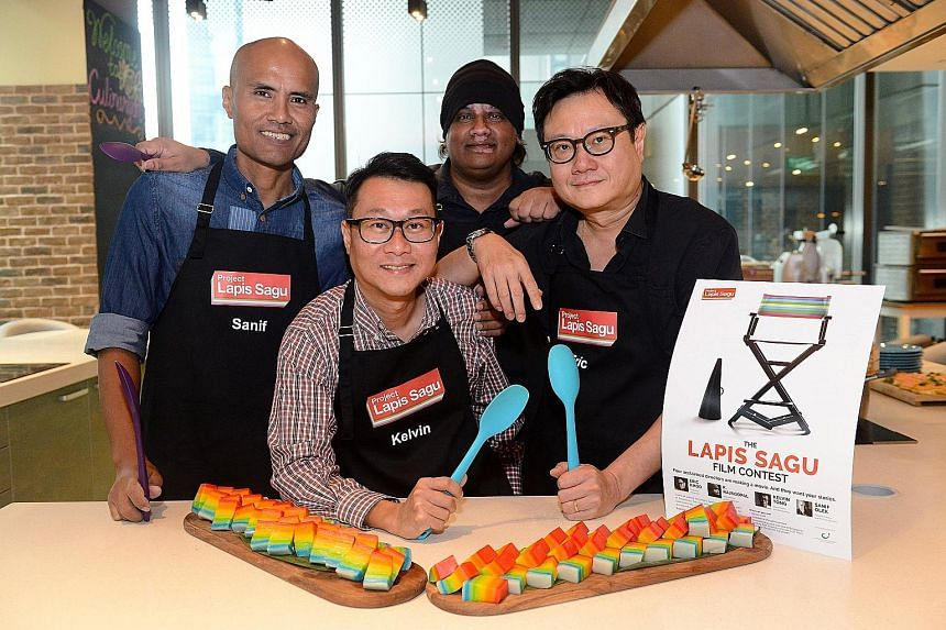 From far left: Sanif Olek, Kelvin Tong, K. Rajapgopal and Eric Khoo will work with winners to produce a screenplay for a film between three and 10 minutes in length.