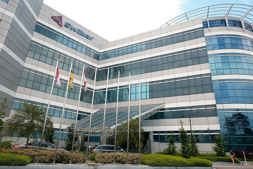 Swiber's office building at the International Business Park. The offshore oil and gas contractor collapsed under a mountain of debts and legal claims in July, and was placed under judicial management on Oct 6.