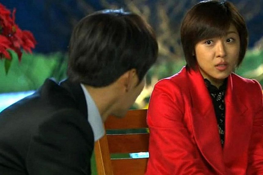 TV still of Secret Garden starring Ha Ji Won, who played the heroine Gil Ra Im. The hit drama show has aired in at least 14 countries.