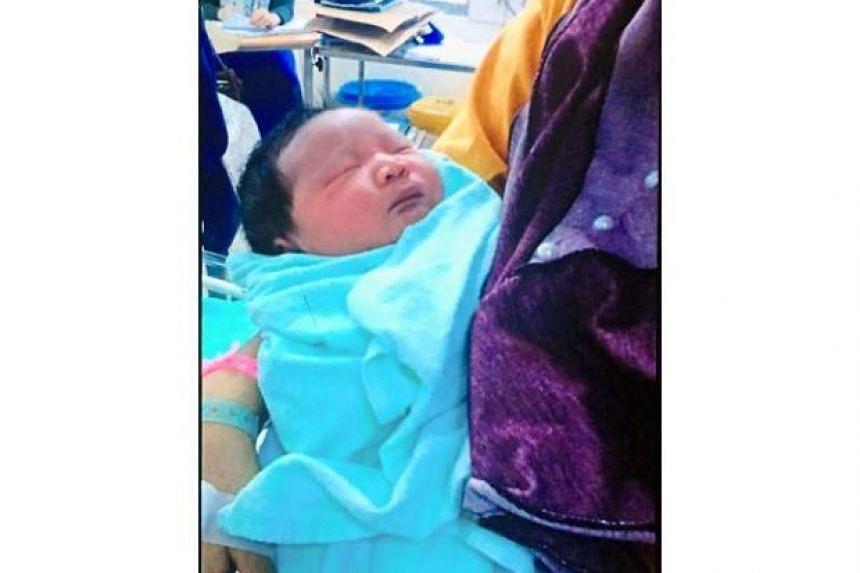 The baby was kidnapped at Hospital Tanah Merah in Kelantan.