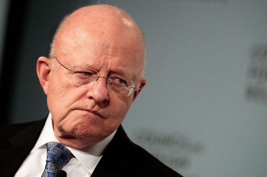James Clapper, US Director of National Intelligence, pauses while speaking at the Council of Foreign Relations on Oct 25, 2016 in New York City.
