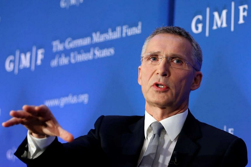 NATO secretary-general Jens Stoltenberg delivers a speech on European defence and transatlantic security at the German Marshall Fund think-tank in Brussels on Nov 18, 2016.