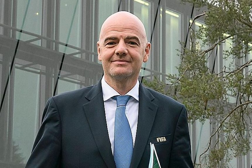 Fifa president Gianni Infantino will be in Singapore for the Fifa Executive Football Summit from Dec 6-8.