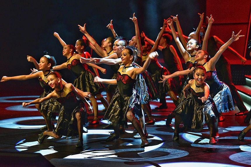 Dancers from Jitterbugs Swingapore jivin' to Because We Can, choreographed by Tiffany Wrightson, at a full-dress rehearsal yesterday for the two-night ChildAid concert. President Tony Tan Keng Yam and Mrs Tan will attend tonight's concert at Resorts
