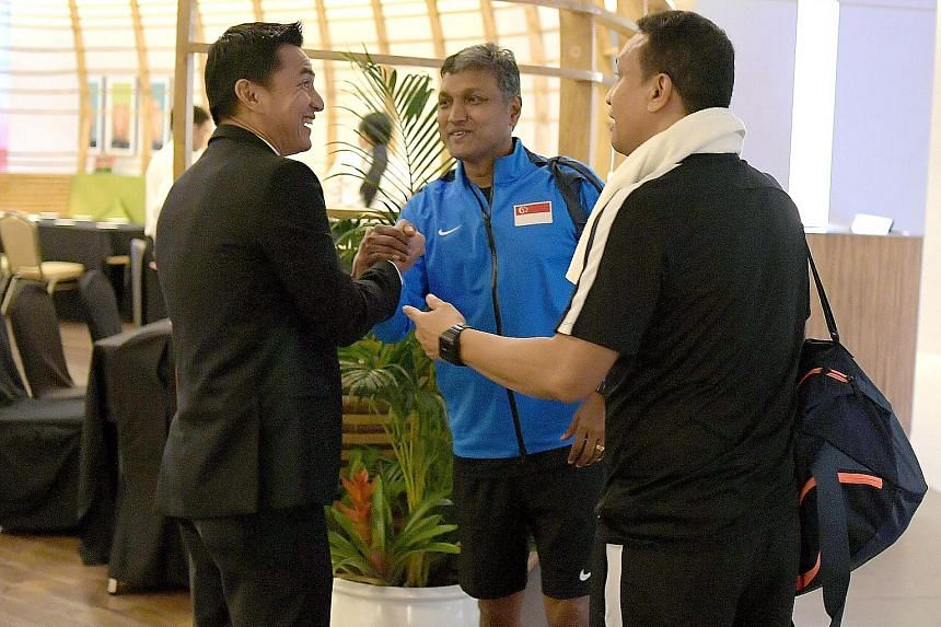 The lobby of Novotel Hotel in Manila was illuminated yesterday by the presence of three of South-east Asia's best strikers turned coaches, all of whom are in town for the Asean Football Federation Suzuki Cup. Thailand's national coach Kiatisuk Senama
