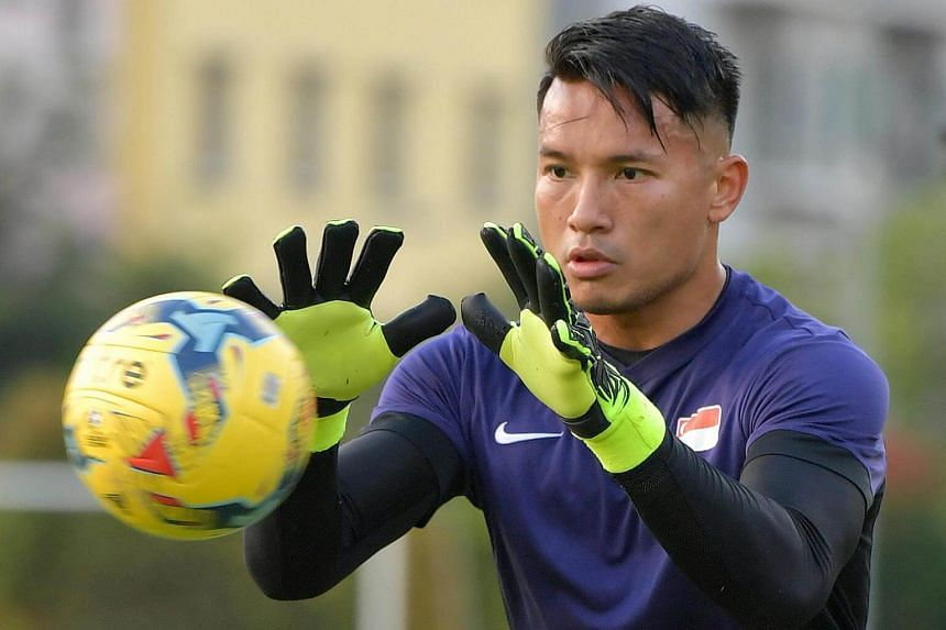 Singapore's first-choice goalkeeper, Hassan Sunny.
