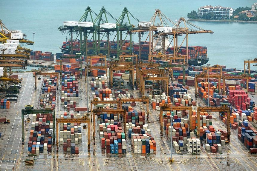 Foreign wholesale trade fell 8.8 per cent, due partly to lower prices of petroleum and chemical products.
