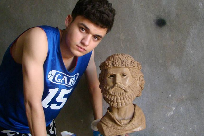 Nenous Thabit recreated ancient sculptures and carvings in Nimrud that were destroyed by militants.
