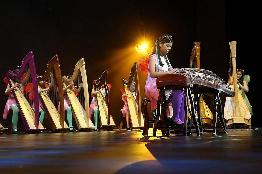 They sang, danced, played musical instruments and performed their hearts out last night, all for a good cause. More than 150 young people helped raise over $2 million at the annual children's charity concert ChildAid. Harpists from Rave Harpers, a lo