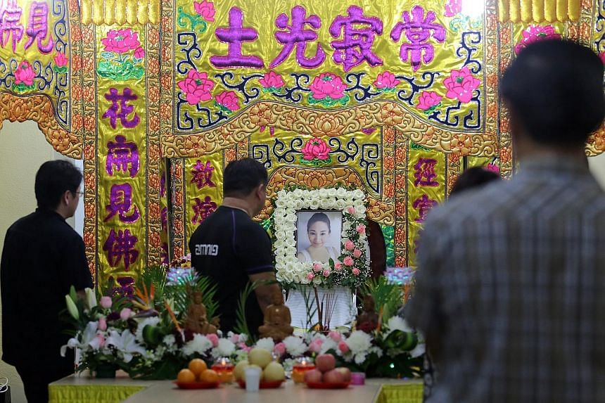 Ms Koh had been in Hong Kong on a business trip when she died. Yesterday, over 300 friends and relatives attended her wake at Woodlands Street 11.