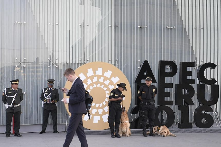 The summit is held at the Lima Convention Centre. Trade and foreign ministers at the Apec ministerial meeting said anti-globalisation sentiments had to be addressed, by ensuring the fruits of free trade are more evenly distributed.