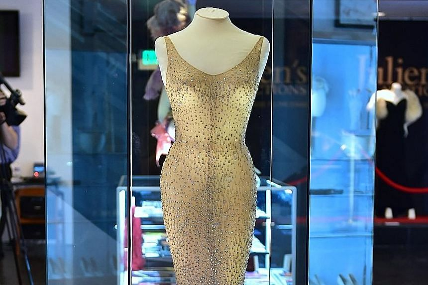 Monroe wore this dress in May 1962, when she famously sang Happy Birthday to then President Kennedy.