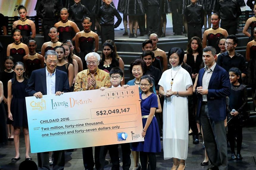 $2,049,147 was raised at ChildAid 2016 where guest-of-Honour President Tony Tan Keng Yam, his wife Mrs Mary Tan were guests of honour.