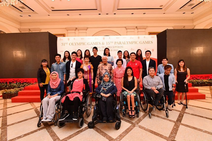 Team Singapore's 2016 Olympians and Paralympians were hosted by President Tony Tan Keng Yam at a tea reception at the Istana on Saturday (Nov 19). Dr Tan congratulated the athletes for their medal efforts and performance in Rio.