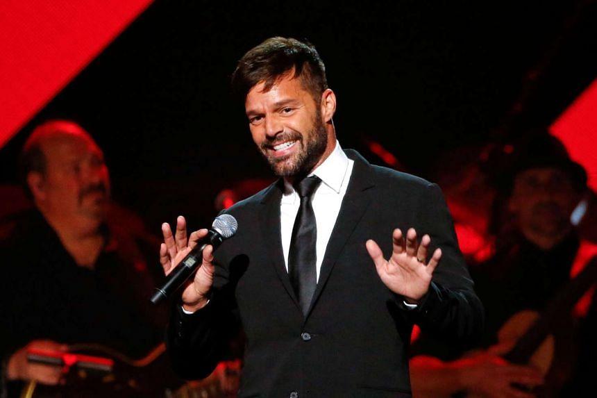 Latin pop superstar Ricky Martin