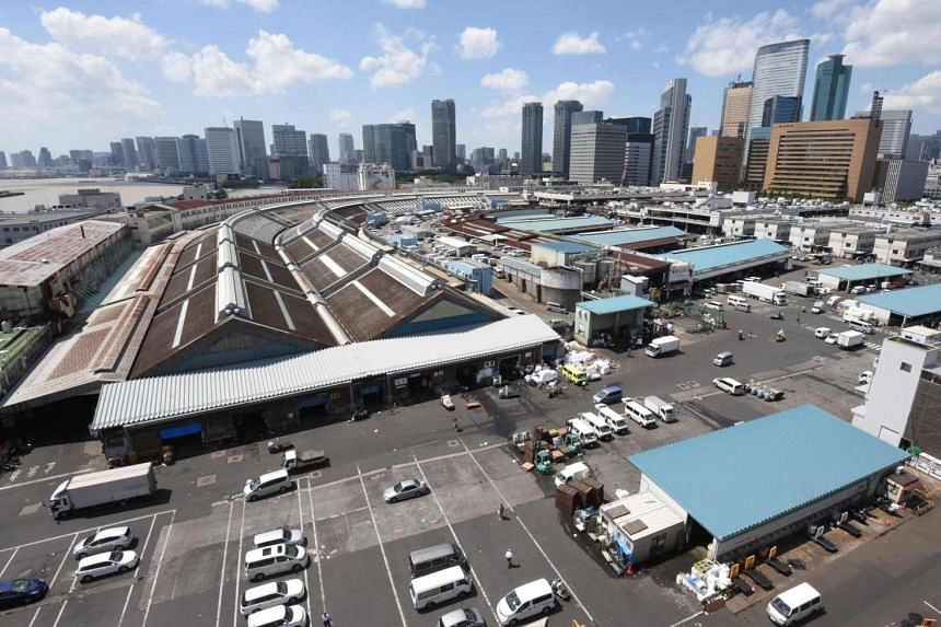 A general view of Tsukiji market in Tokyo, on Aug 31, 2016.